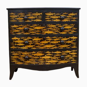 Antique Fish Chest of Drawers