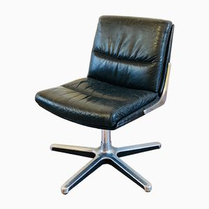 Vintage Leather & Chrome Desk Chair from Drabert