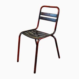 Vintage Industrial T2 Metal Chair from Tolix, 1960s