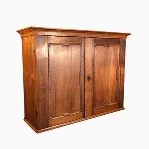 Scandinavian Oak Curiosity Cabinet, 1800s
