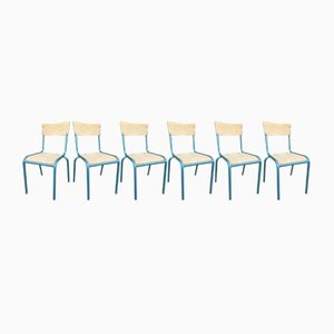Vintage School Chairs from Mullca, Set of 6