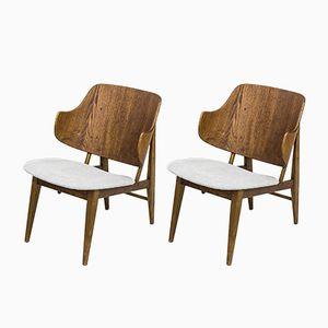 Dänische Stühle von Ib Kofod-Larsen für Brdr. Petersen, 1950er