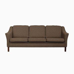 Dänisches 3-Sitzer Sofa aus Wolle, 1970er