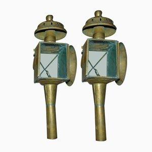 Vintage Wandlampen aus Messing aus der Vorkriegszeit, 2er Set