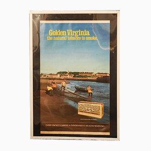 Eingerahmtes Vintage Golden Virginia Werbeposter, 1970er