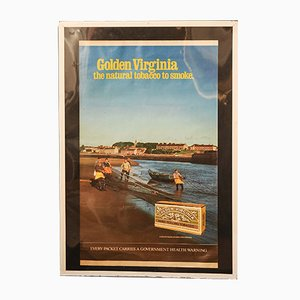 Vintage Golden Virginia Framed Advertising Poster, 1970s