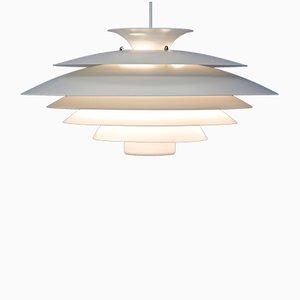 Lampada a sospensione vintage bianca di Form Light, Danimarca, anni '60