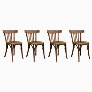 Vintage Bistro Chairs from Fischel, Set of 4