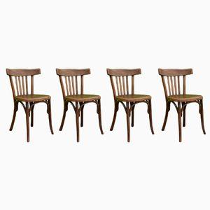 Vintage Bistro Chairs from Fischel, Set of 4