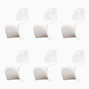 Vintage Stühle von Verner Panton für ZE Möbel, 1984, 6er Set
