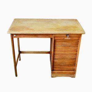 Französischer industrieller Vintage Schreibtisch von JB Strasbourg, 1950er