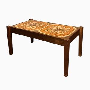 Tavolino da caffè Mid-Century in teak con mattonelle in ceramica, Danimarca