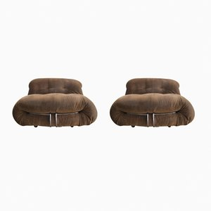 Soriana Lounge Chairs by Tobia & Afra Scarpa for Cassina, 1972, Set of 2