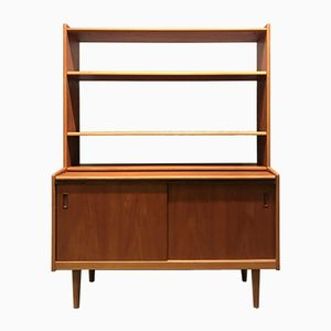 Vintage Swedish Secretary & Bookshelf, 1970s