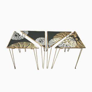 Tavolini modulari vintage, anni '50, set di 4