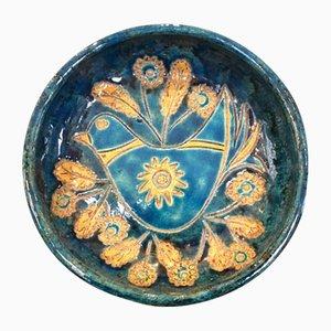 Cuenco vintage de cerámica de M Perret, años 60