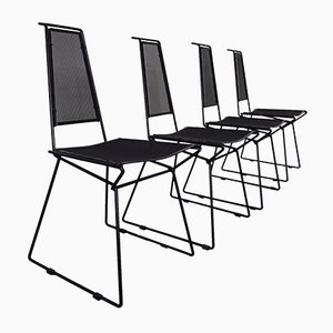Metal Chairs by Rolf Rahmlow, 1980s, Set of 4