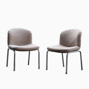 Vintage Velvet Waffle Lounge Chairs from Mobilier International, 1970s, Set of 2