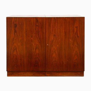 Cubic Mid-Century Rosewood Dry Bar