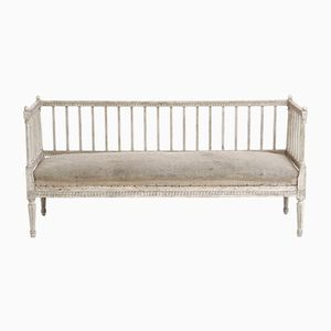 19th-Century Gustavian Carved Sofa