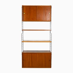 Teak Shelves with Cabinets by Kajsa & Nils Strinning for String, 1960s