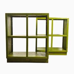 Industrial Shelving Units by Michel Ducaroy for Bay Engineering, 1950s, Set of 2