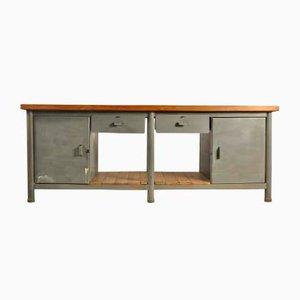 Vintage Industrial Workbench, 1940s