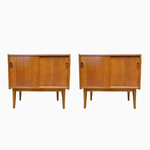 Scandinavian Teak Sideboards, 1960s, Set of 2