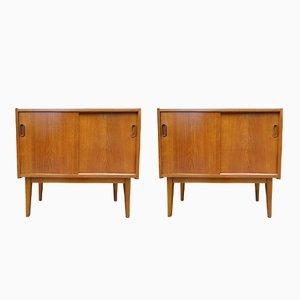 Skandinavische Sideboards aus Teak, 1960er, 2er Set