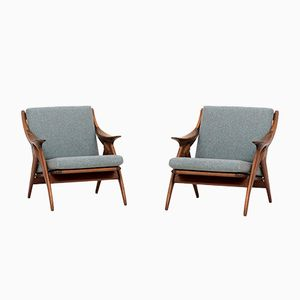 Knot Easy Chairs by De Ster Gelderland, 1960s, Set of 2