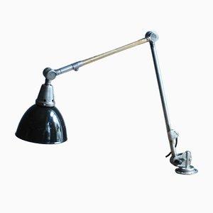 Emaillierte Vintage Tischlampe von Curt Fischer für Midgard