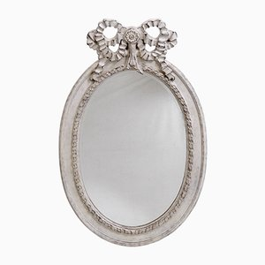 Large Gustavian Beveled & Carved Mirror