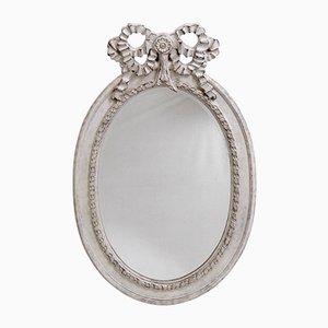 Specchio grande gustaviano smussato e intagliato