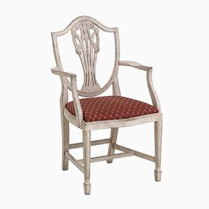 Gustavian Armchairs, Set of 6