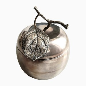 Silver Plated Apple Ice Bucket from Teghini Firenze, 1960s