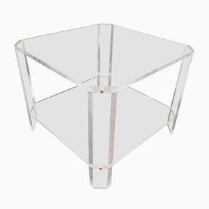 Mesa de centro de plexiglás de David Lange, años 70