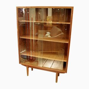 Danish Shelving Unit with Glass Doors, 1960s