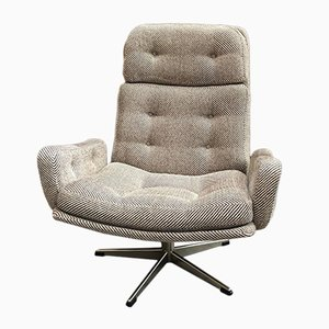Scandinavian Woolen Lounge Chair, 1970s