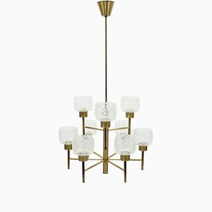 Mid-Century Swedish Brass Chandelier, 1960s