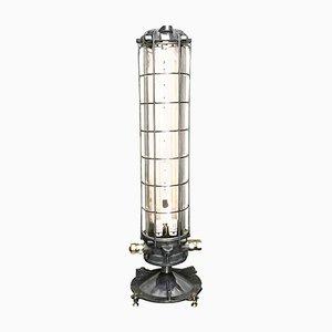 Lampada da terra antideflagrante tubolare in alluminio e vetro di Legrand, 1975