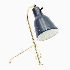 Dreibeinige skandinavische Tischlampe aus Messing, 1950er