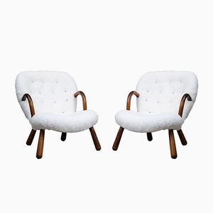 Clam Chairs by Philip Arctander, 1940s, Set of 2