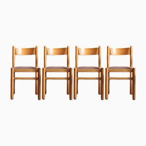 Chaises de Salon en Bouleau, Suède, 1970s, Set de 4