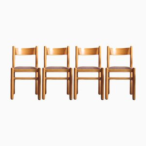 Schwedische Esszimmerstühle aus Birke, 1970er, 4er Set