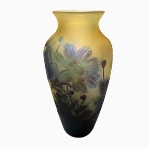 Glass Vase by Emile Galle, 1910s
