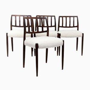 Modell 83 Stühle von Niels Otto Moller, 1960er, 4er Set