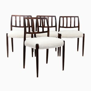 Model 83 Chairs by Niels Otto Moller, 1960s, Set of 4