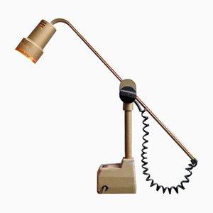 Lámpara de mesa ajustable industrial, años 50