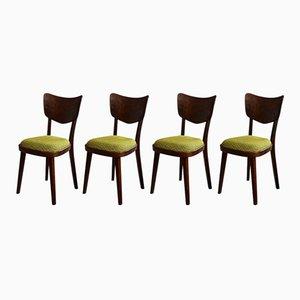 Chaises de Salon Mid-Century de Cesky Nabytek, Set de 4
