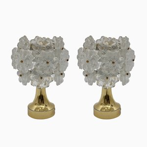 Mid-Century Modern Flower Table Lamps, 1960s, Set of 2